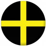 St. David Flag 25mm Button Badge